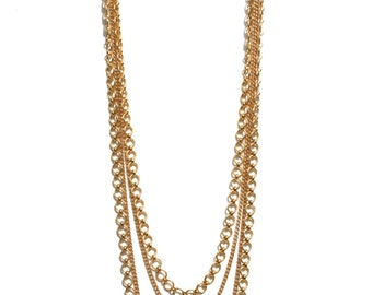 Four Gold Chain Necklace