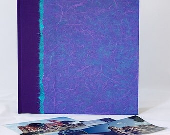 Album Purple Reversible - great for Wedding Photo Album, Scrapbook, Photo Booth Album, Guest Book