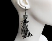 Will you walk into my parlor, said the Spider to the Fly Earrings - Spider Web Earrings (C.A.B. Fayre Original Design)