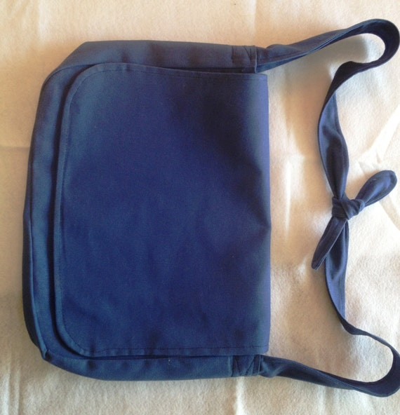 Royal Blue Messenger Bag Canvas