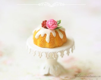 Miniature Food - Raspberry Spring Bundt Cake