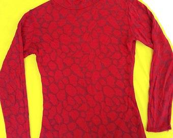vintage 70s top, bx - BRONX CLOTHIERS INC, long sleeve, mock turtle neck