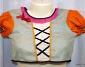 Vintage 1940's girl's gypsy Costume Halloween Original children size medium lightweight rayon