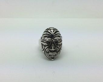 Sterling Silver Maori Ring