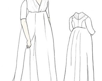 1797 Chemise Dress Sewing Pattern