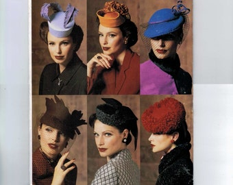 Accessories Sewing Pattern Vogue P905 V7657 Misses Retro Vintage 1940s Style Hats with Veils UNCUT