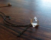 Herkimer Diamond Necklace - beautiful, tiny and minimalist