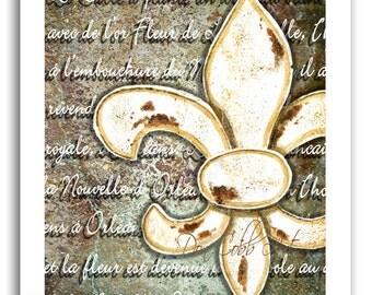 """Fleur de Lis Home Decor Art """"Fleur de Lis Orléans"""" Prints Signed and Numbered"""