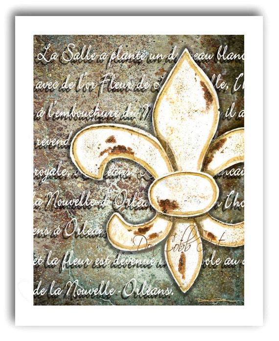 Fleur De Lis Home Decor Art Fleur De Lis Orl Ans By DonCobbArtwork