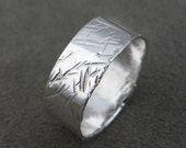 Scratches - Silver Ring - Silver Band