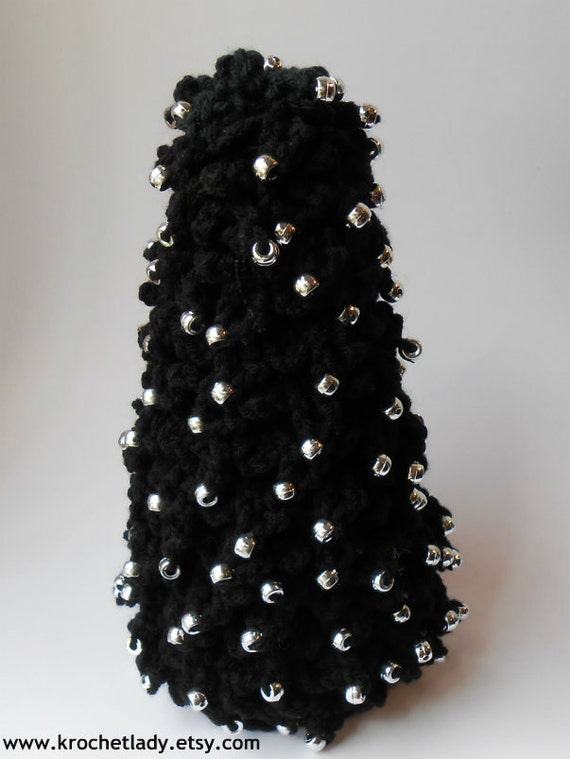Gothic holiday tree christmas decoration