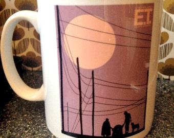 E.T.: The Extra-Terrestrial illustrated mug