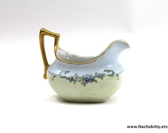Hand Painted China Painting Antique Creamer Female Artist