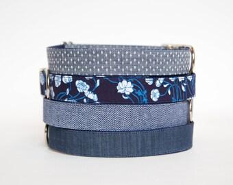Dog Collar - Indigo Chambray Collection