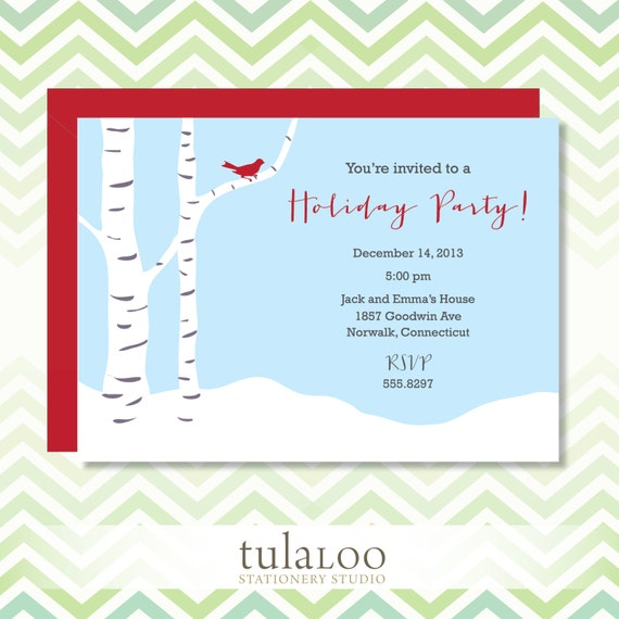 https://www.etsy.com/listing/165972004/holiday-little-red-bird-party-invitation
