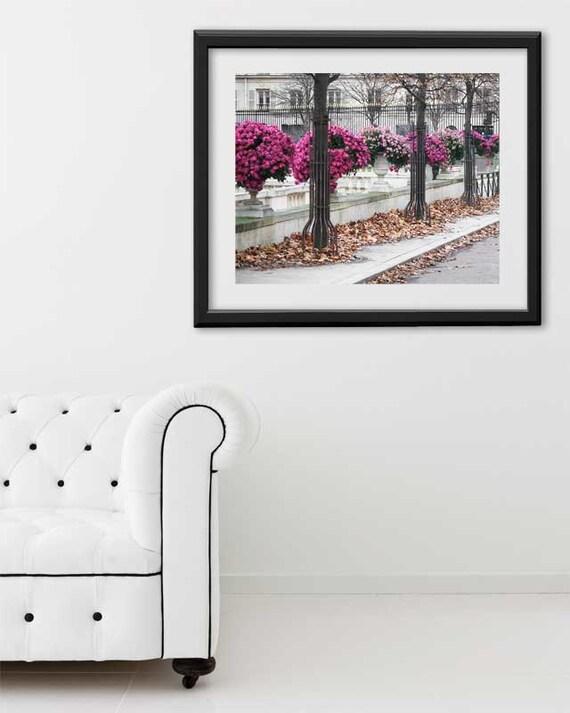 "Paris Print, ""Mums"" Extra Large Wall Art, Paris Photography Art Print, Oversized Art, Fine Art Photography Paris Decor"