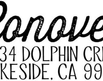 Custom Address and Name Stamp Design DIY (Design Only)
