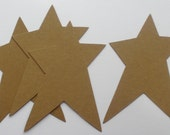 LARGE PRiMiTiVE STARS - CHiPBOARD Die Cuts -  Bare Craft Shapes