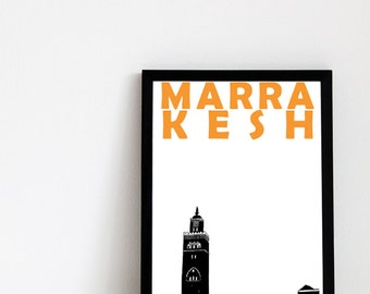 Marrakesh Print // Morocco Travel Art Print