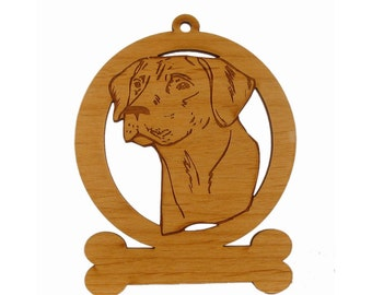 Rhodesian Ridgeback Head Ornament 083822 Personalized With Your Dog's Name