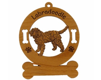 3472 Labradoodle Standing  Personalized With Your Dog's Name