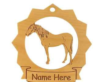 Barb Horse Wood Ornament 088063 Personalized With Your Horse's Name