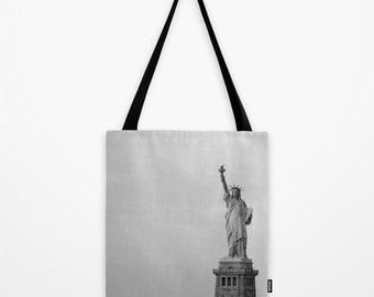 New York City Tote Bag, Statue of Liberty - NYC, Modern, Beach Bag, Urban