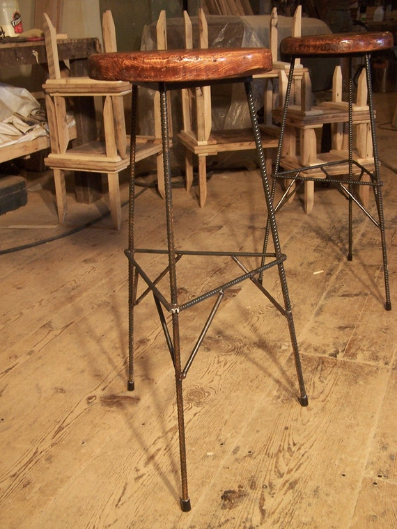 Extra Tall Reclaimed Wood Bar Stools with Metal Legs : il570xN510489906jwp7 from www.etsy.com size 570 x 760 jpeg 132kB