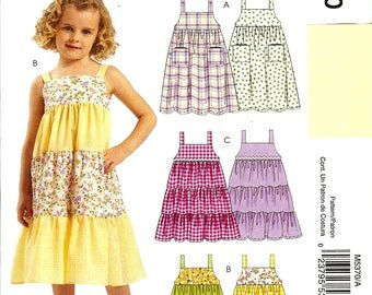 McCall's UNCUT Easy Stitch 'n Save Pattern M5370 - Toddler's Summer Dresses - 1-3