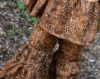 Girl's Pants - leopard pants - Boho pants - infant pants - toddler pants - leopard print - animal print - cheetah print - baby pants