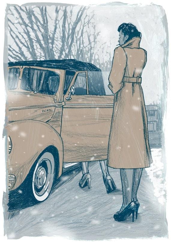 "Nine Stories - Uncle Wiggily in Connecticut - 13"" x 19"" Fine Art Print by Jonny Ruzzo"