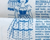 1950s Mail Order 7122 Doll Laundry Bag Shoe Bag Pattern Swiss Miss Iron On Transfer  Vintage Sewing Pattern UNCUT