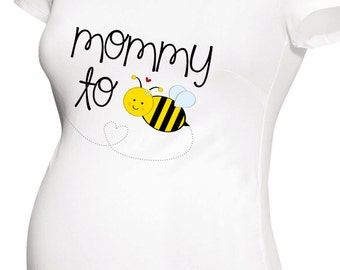 Mommy to bee pregnancy announcement shirt short or long sleeve maternity or non-maternity top
