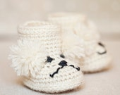 Instant download - Baby Booties Crochet PATTERN (pdf file) - Poodle Baby Boots