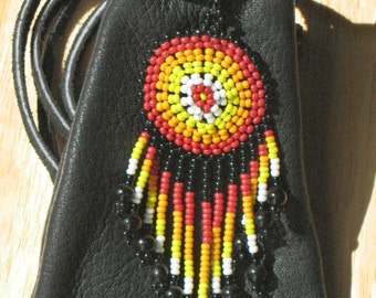 PROTECTION ... Large Beaded Shield Medicine Bundle