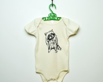 Organic Raccoon One-Piece - Natural & Galaxy