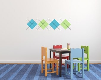 Argyle nursery wall decal, - Small  DB301