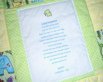 Baby Poem Quilt - Throw Size