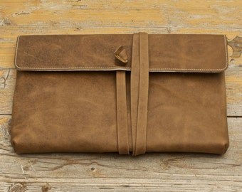 MacBook Air Leather Sleeve - SPIN ME AROUND (Organic Leather)