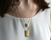 Gold Rectangle Necklace