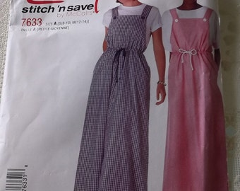 Misses Jumper Pattern,Size S 8-10 M 12-14,Womens Casual Cottage Chic Style, Mccalls 7633 Uncut Pattern
