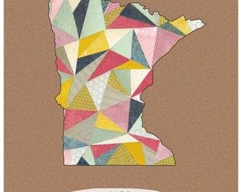 Land of 10,000 Triangles - Minnesota print