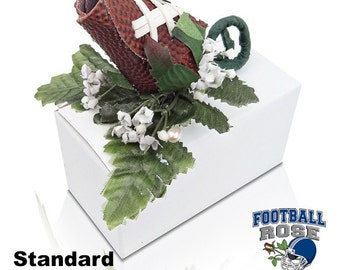 Football Rose Boutonniere or Corsage Stem