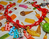 Rebel Vintage Cracker Jack Toy Charm Bracelet