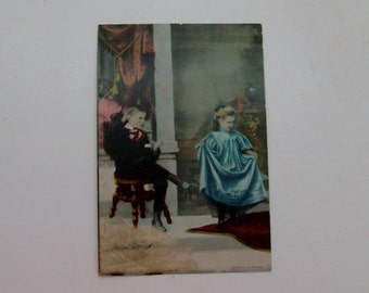1901 Surprised by Mamma Antique Photograph (Code v)