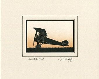 Sopwith Camel Hand Cut Papercut