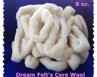 Core Wool Roving  for Needle Felting 8 oz.