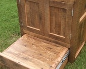YOUR Custom Rustic Barn Wood Vanity or Cabinet with a Built in Step Stool and FREE SHIPPING - BWV550