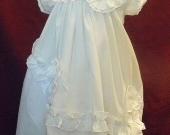 cotton christening gown