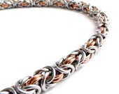 Stainless Steel & Copper - Byzantine Chainmaille Bracelet